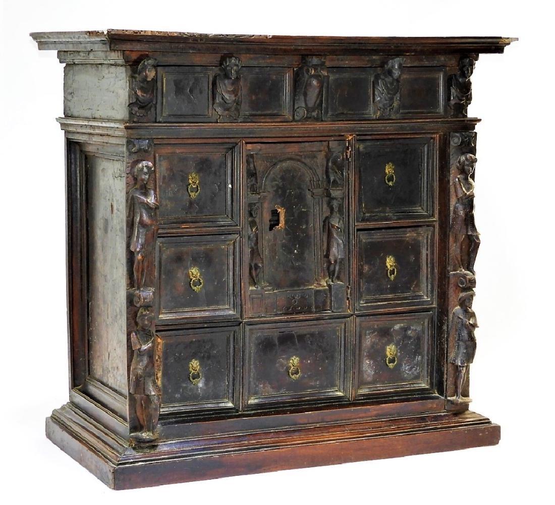 16C Milanese Renaissance Walnut Bambocci Cabinet