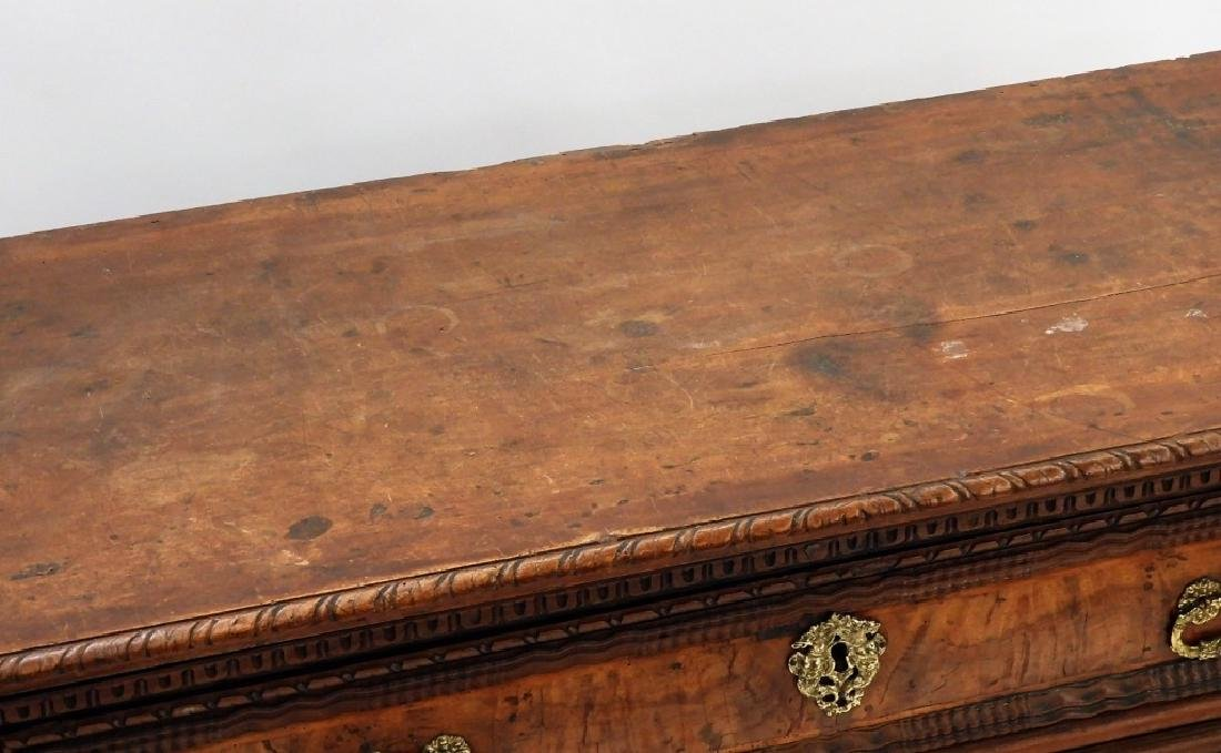 17C Italian Baroque Carved Walnut Chest of Drawers - 3