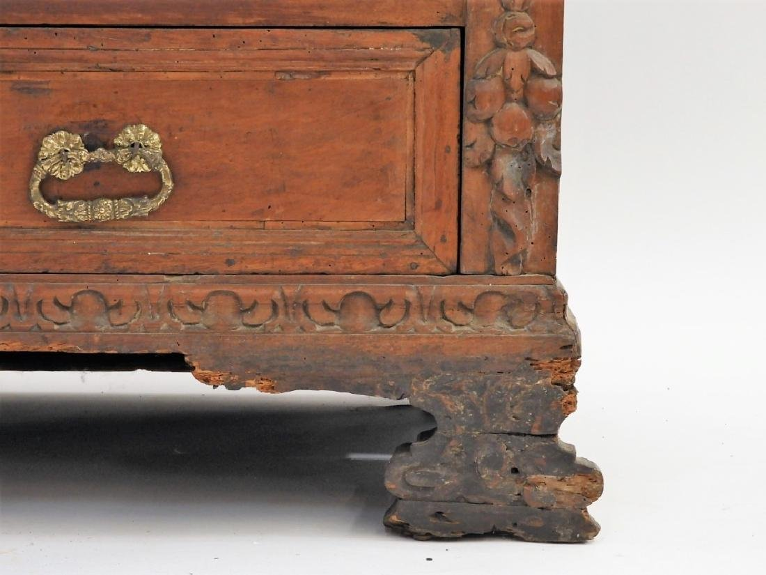 17C Italian Baroque Carved Walnut Chest of Drawers - 5