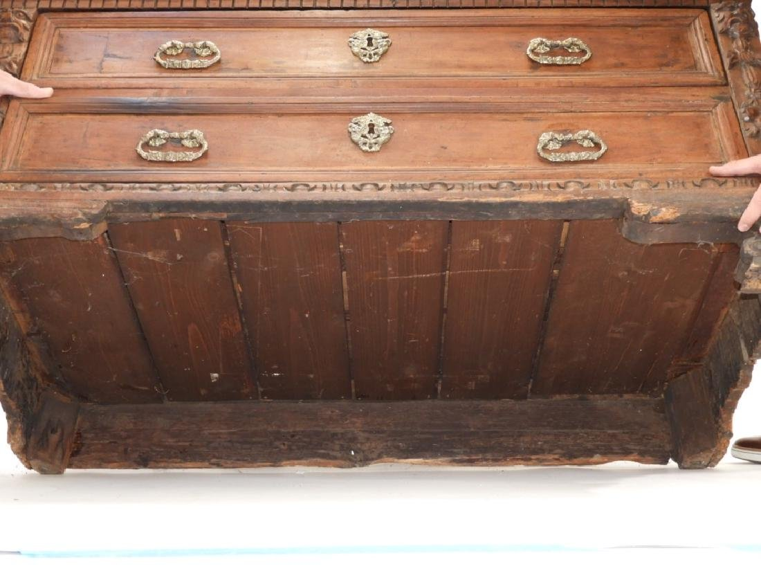 17C Italian Baroque Carved Walnut Chest of Drawers - 8