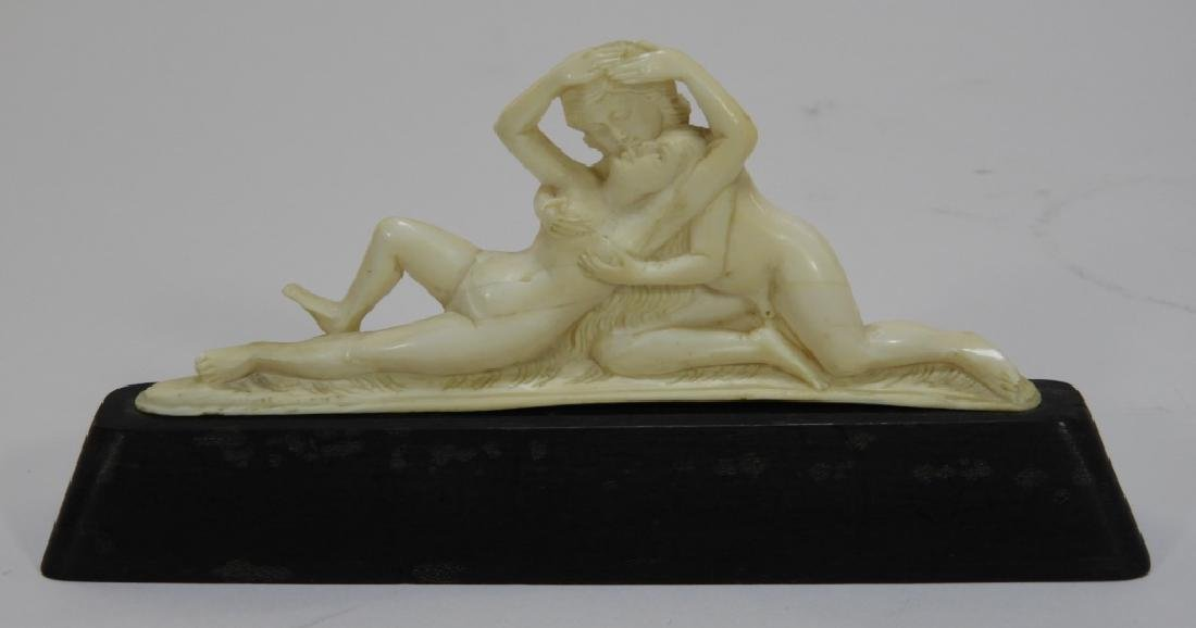 Anglo-Indian European Market Carved Ivory Group