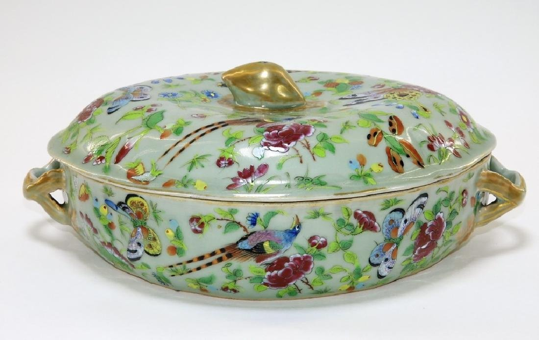 LG 19C. Chinese Export Celadon Covered Tureen