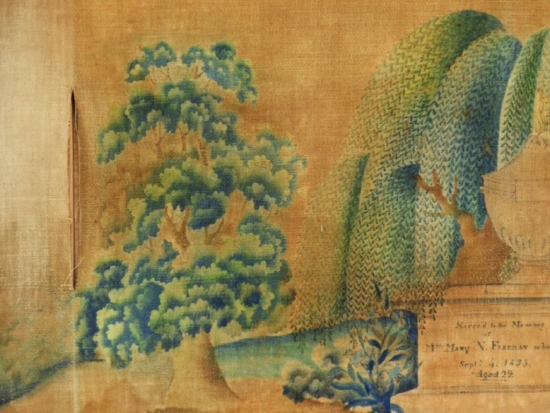C.1825 Freeman Family Velvet Memorial Painting - 3