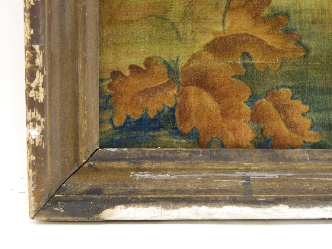 C.1825 Freeman Family Velvet Memorial Painting - 5