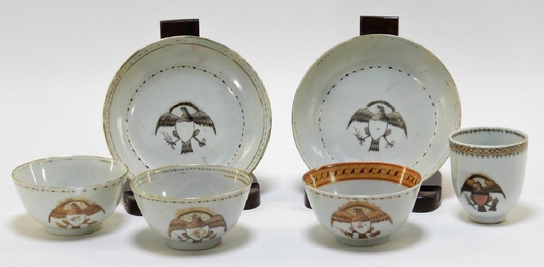 Group Chinese Export Armorial Eagle Porcelain