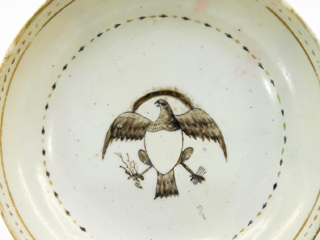 Group Chinese Export Armorial Eagle Porcelain - 2