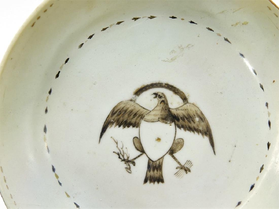 Group Chinese Export Armorial Eagle Porcelain - 3