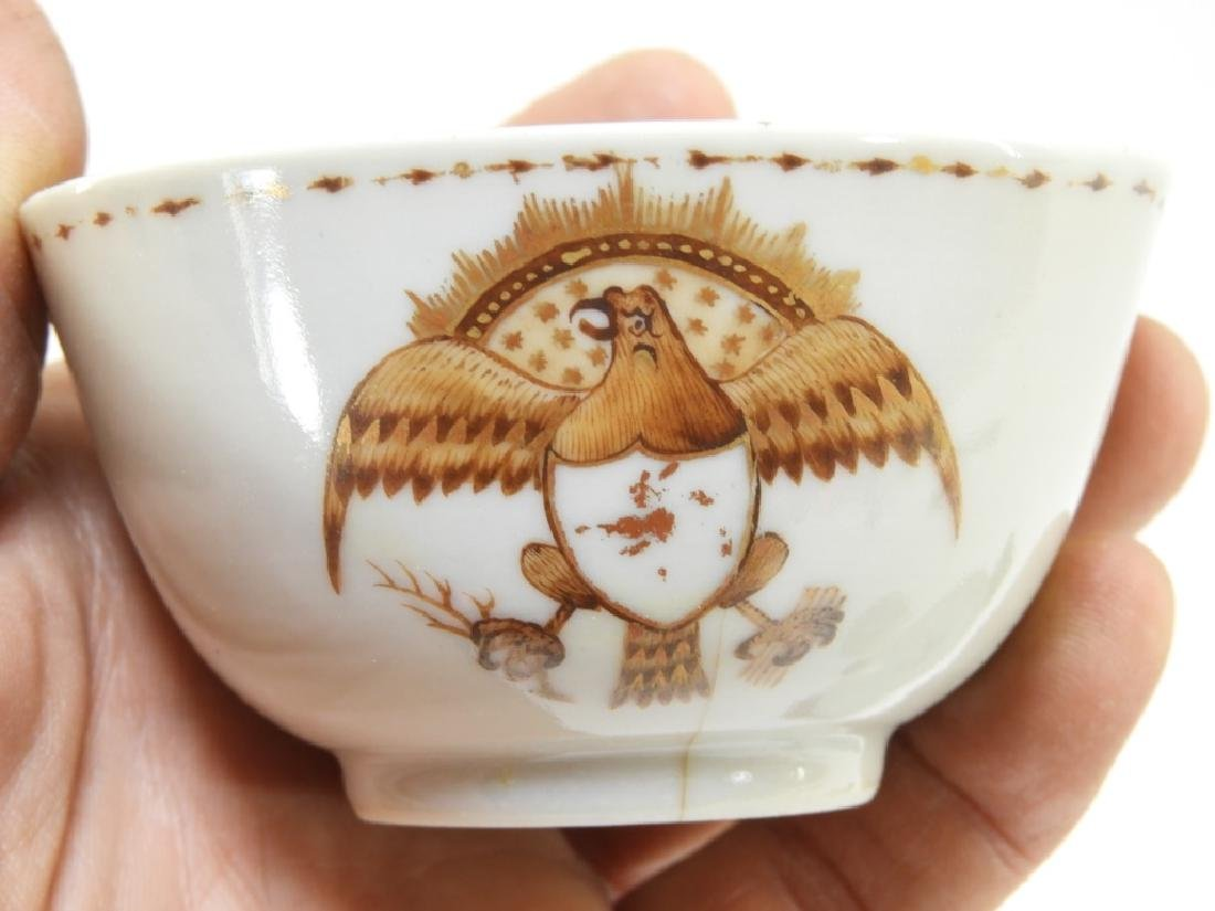 Group Chinese Export Armorial Eagle Porcelain - 6