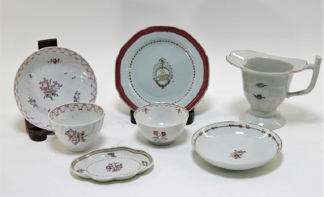 7PC Chinese Export Porcelain Cup Bowl Plate Group
