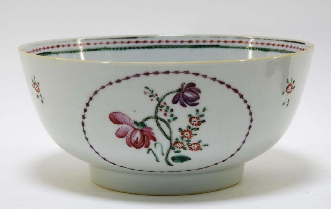 Chinese Export Porcelain Floral Decorated Bowl