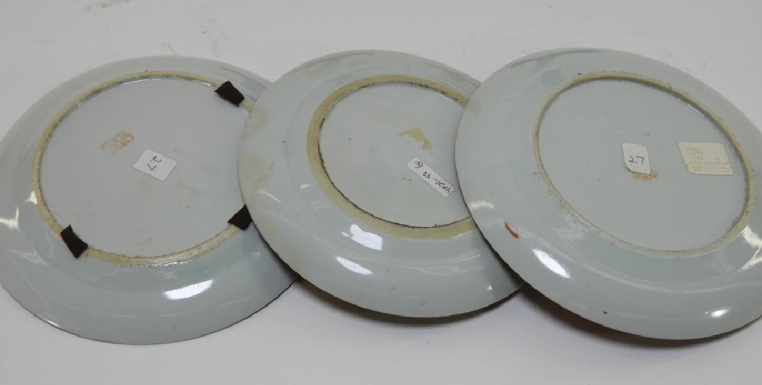 3 Chinese Orange Fitzhugh Export Porcelain Plates - 9