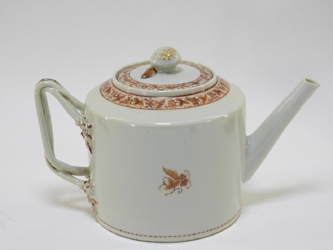 Chinese Sepia Export Porcelain Tea Leaf Teapot - 5