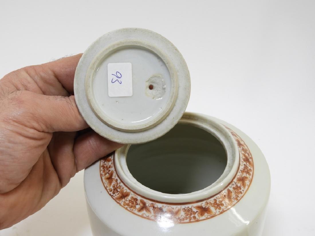 Chinese Sepia Export Porcelain Tea Leaf Teapot - 6