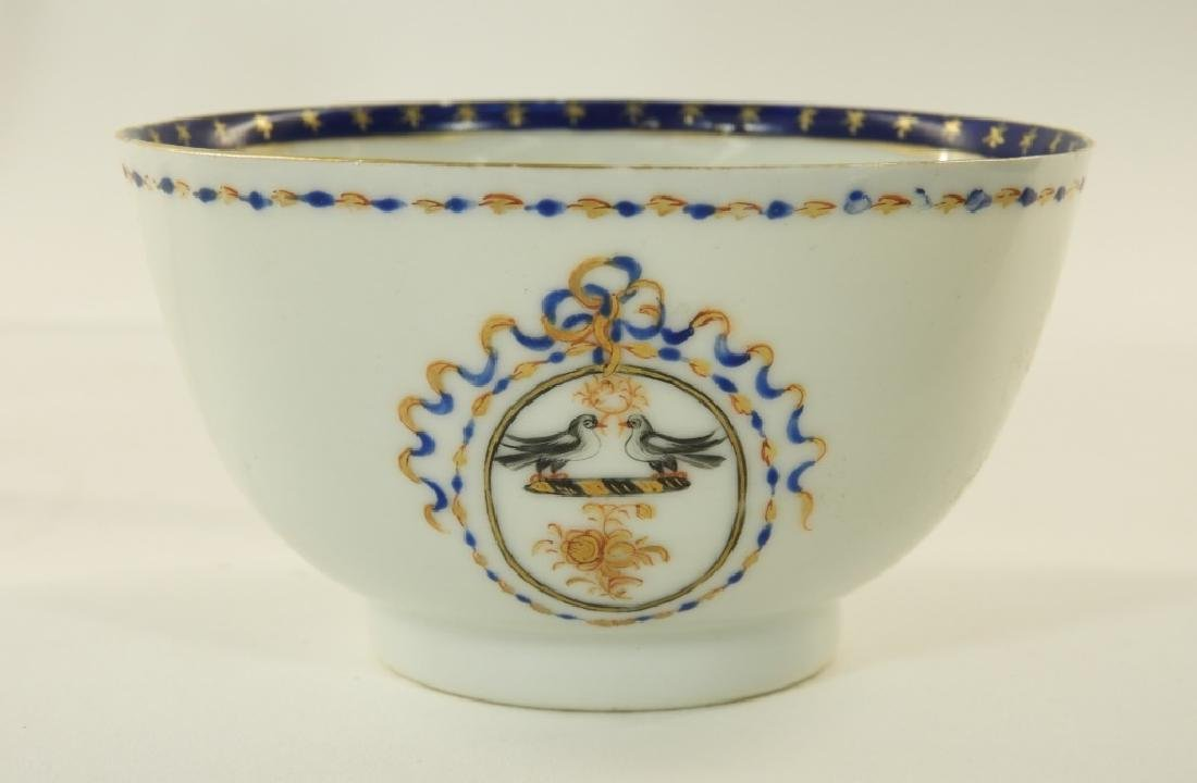 Chinese Export Porcelain Armorial Cup & Saucer - 3