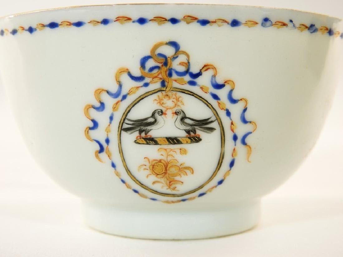Chinese Export Porcelain Armorial Cup & Saucer - 4