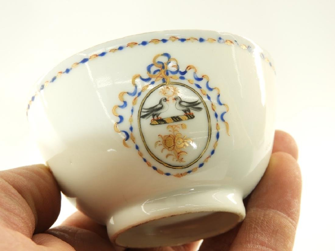Chinese Export Porcelain Armorial Cup & Saucer - 7