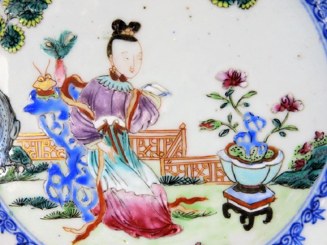 Group Chinese Export Porcelain Court Garden Plates - 3