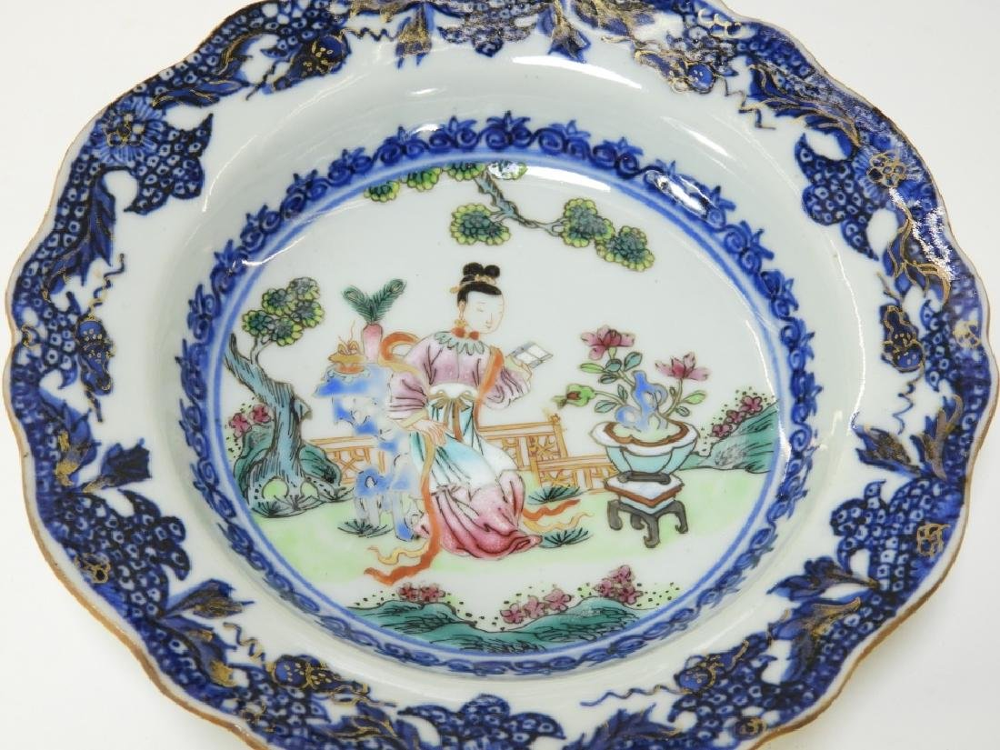 Group Chinese Export Porcelain Court Garden Plates - 4