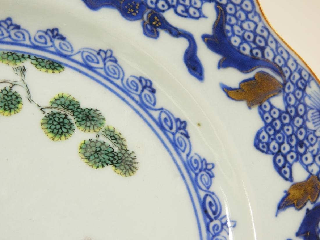 Group Chinese Export Porcelain Court Garden Plates - 6