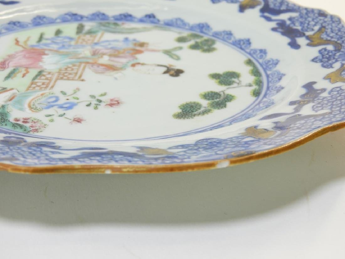 Group Chinese Export Porcelain Court Garden Plates - 7