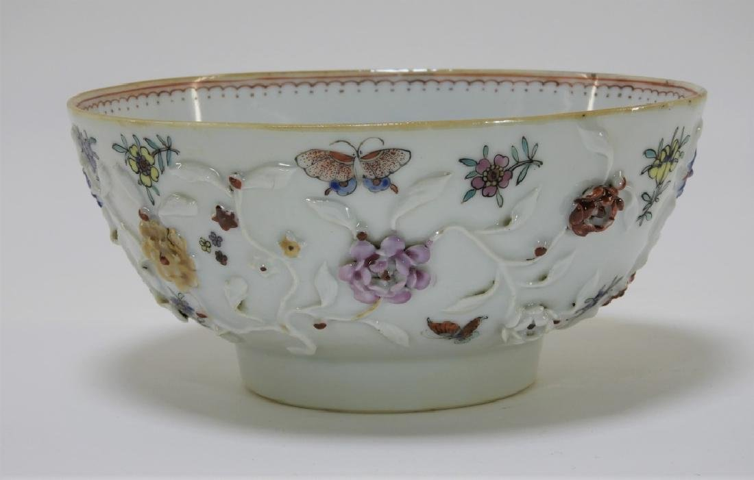 Chinese Export Porcelain Applied Relief Bowl