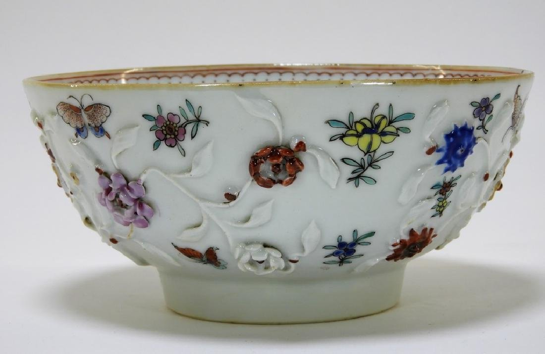 Chinese Export Porcelain Applied Relief Bowl - 2