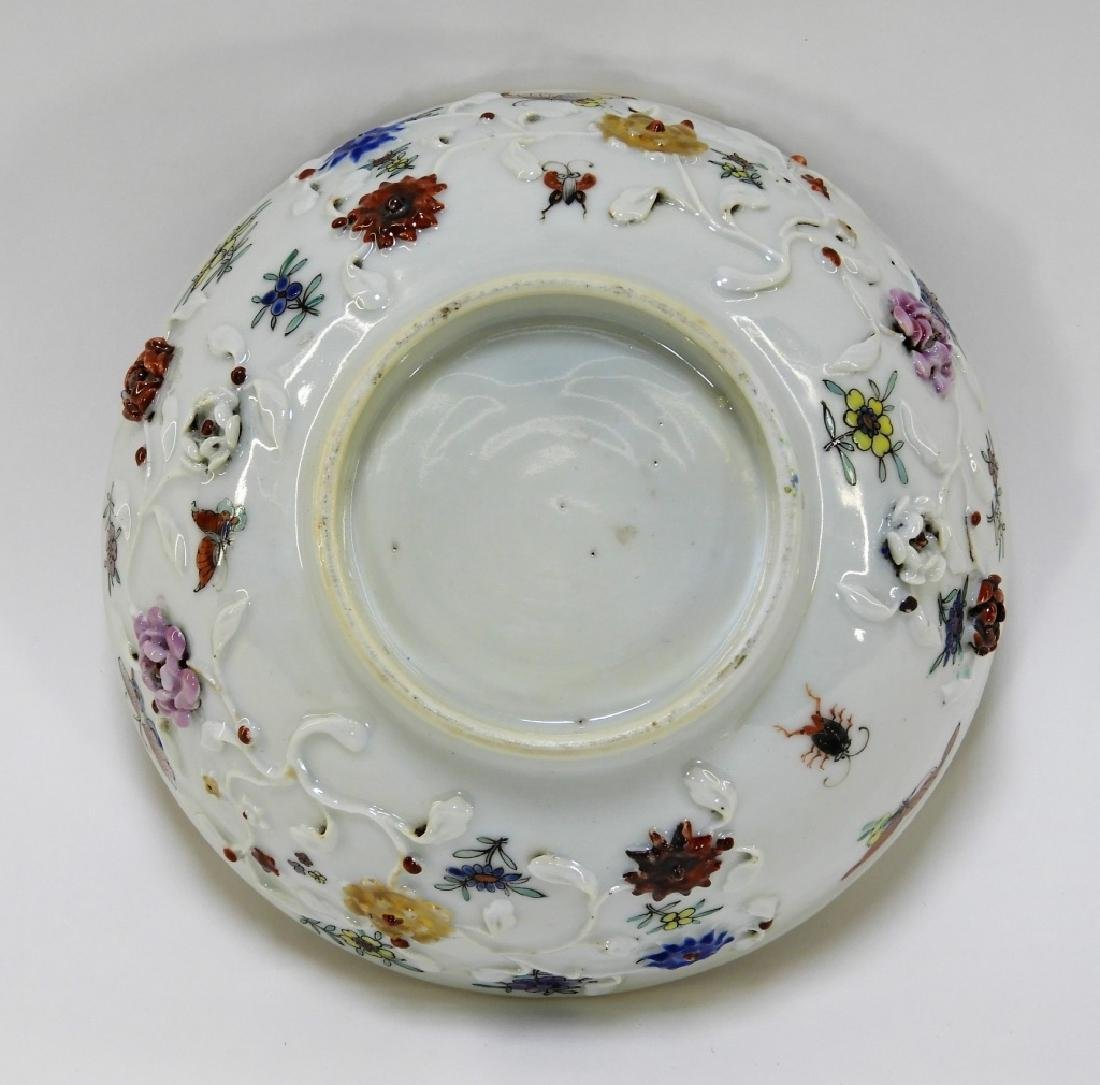Chinese Export Porcelain Applied Relief Bowl - 3