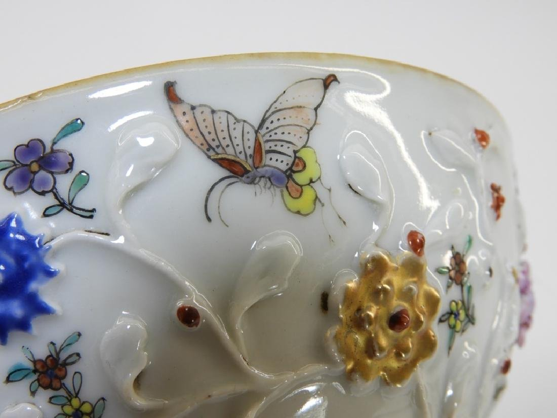 Chinese Export Porcelain Applied Relief Bowl - 5