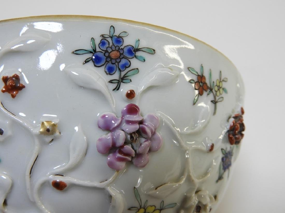 Chinese Export Porcelain Applied Relief Bowl - 6