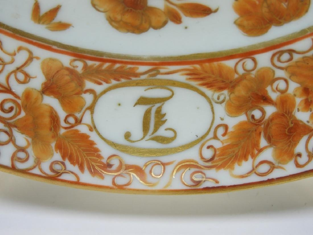 Chinese Export Porcelain Coral Armorial Bird Plate - 2