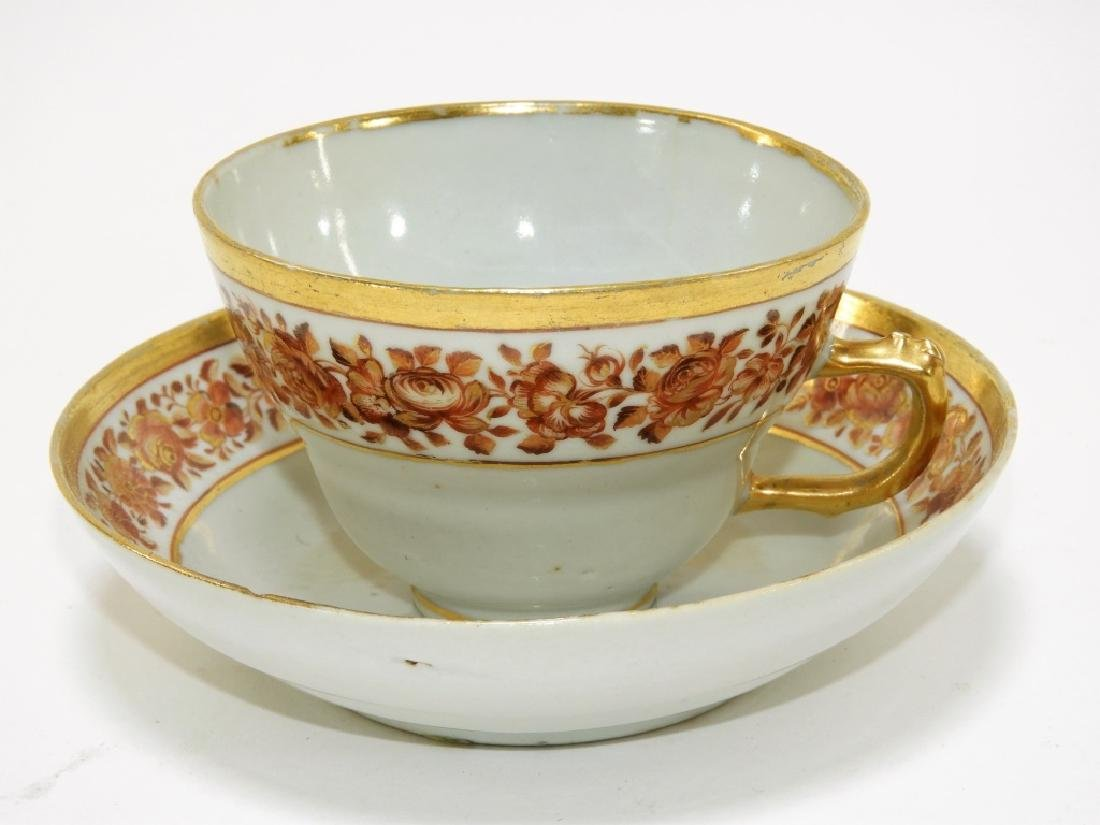 2 Chinese Export Fitzhugh Porcelain Cup & Saucer - 2