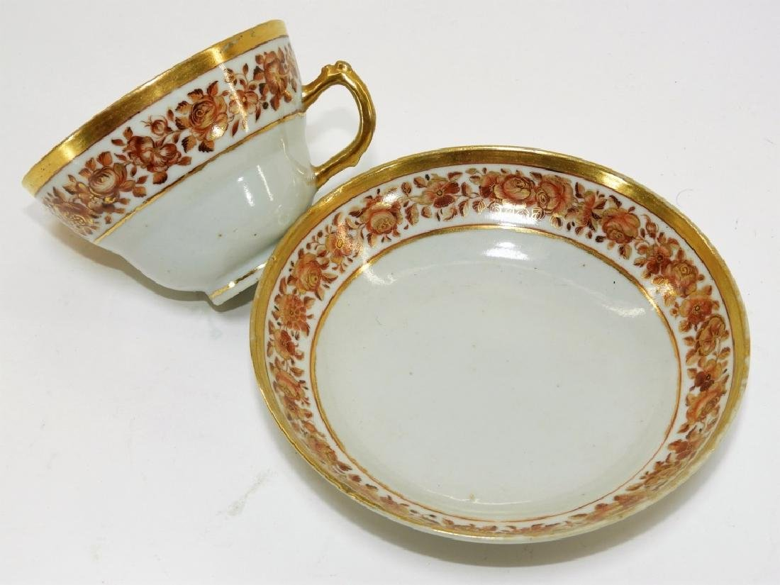 2 Chinese Export Fitzhugh Porcelain Cup & Saucer - 3