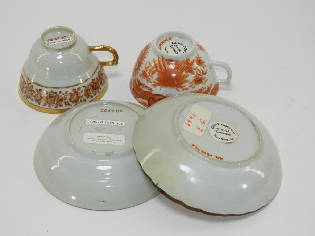 2 Chinese Export Fitzhugh Porcelain Cup & Saucer - 6