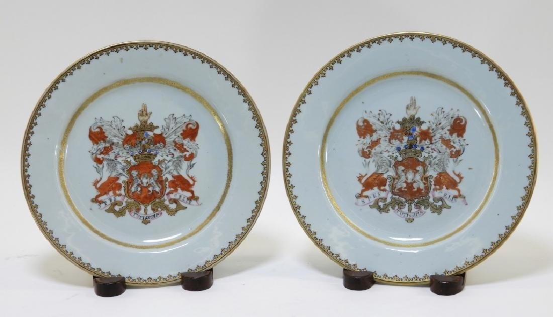 PR Chinese Export Earl of Kingston Armorial Plates