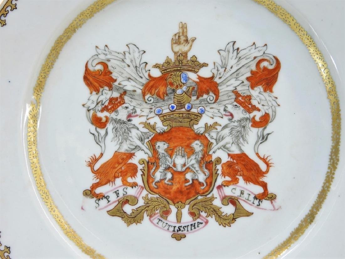 PR Chinese Export Earl of Kingston Armorial Plates - 2