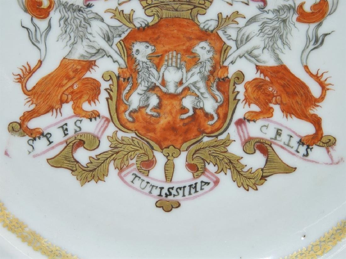 PR Chinese Export Earl of Kingston Armorial Plates - 4