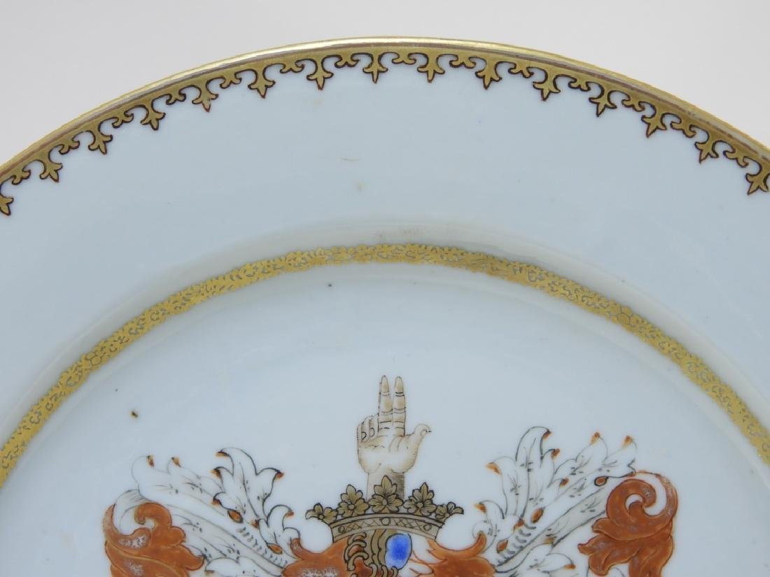 PR Chinese Export Earl of Kingston Armorial Plates - 5