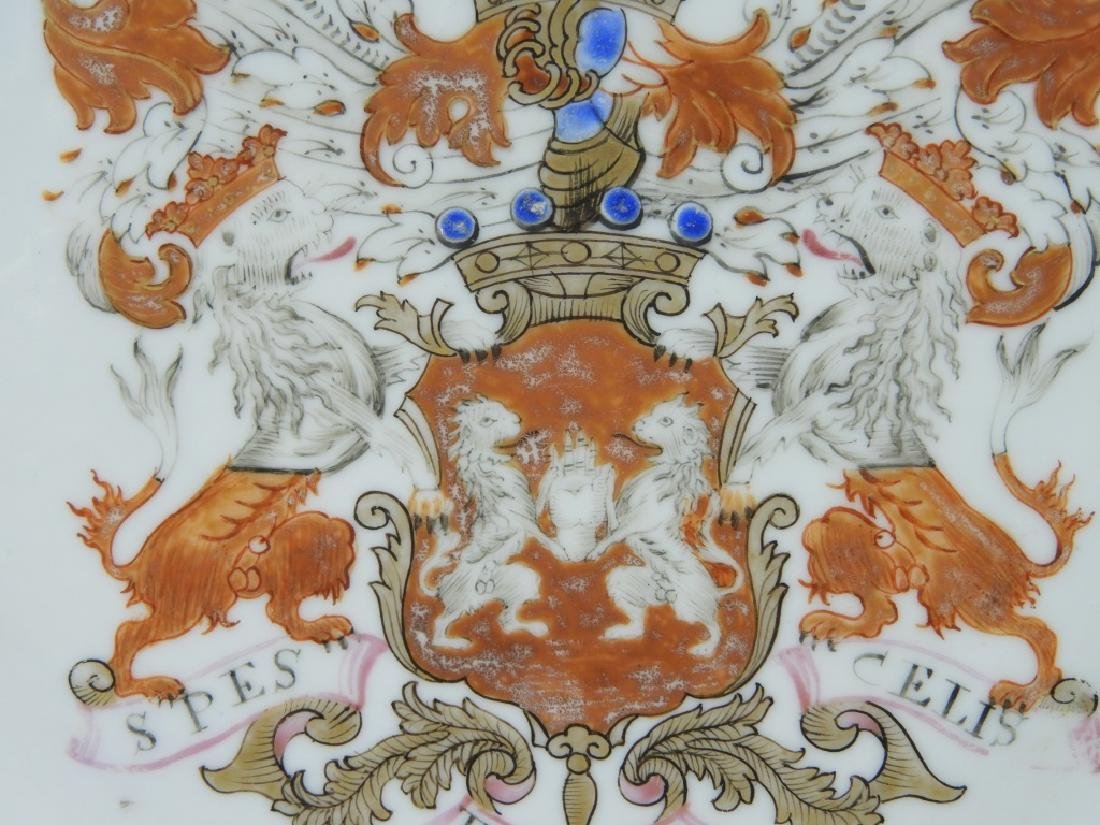PR Chinese Export Earl of Kingston Armorial Plates - 7