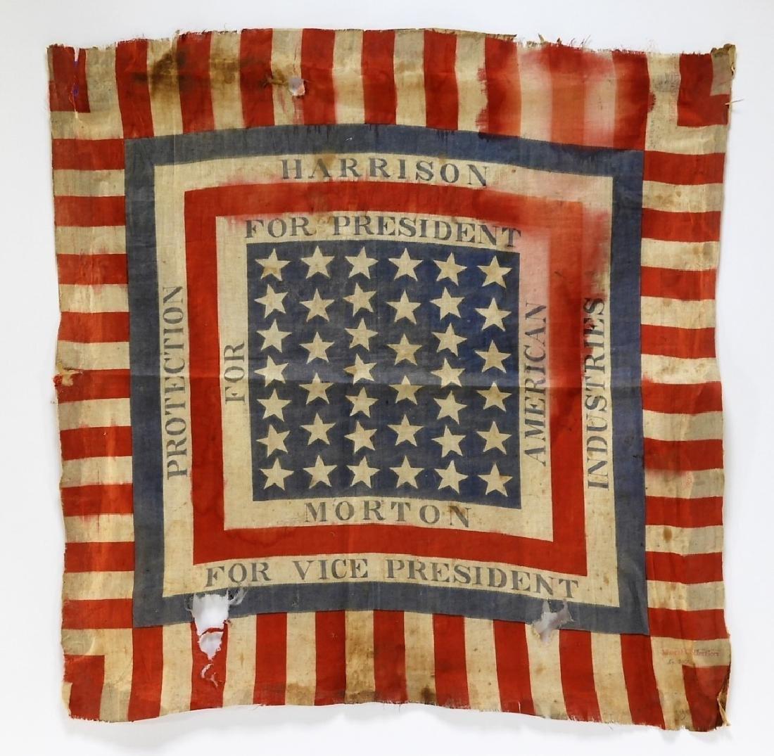 Presidential Election Harrison Handkerchief Flag