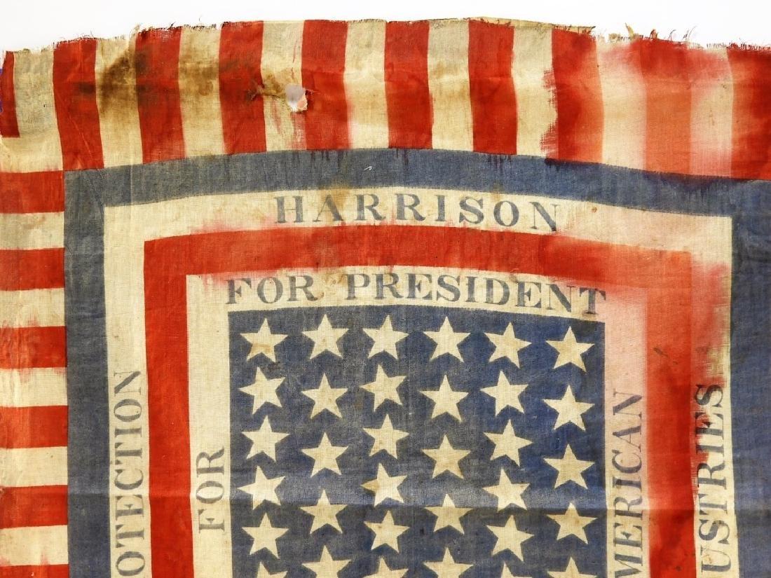 Presidential Election Harrison Handkerchief Flag - 2