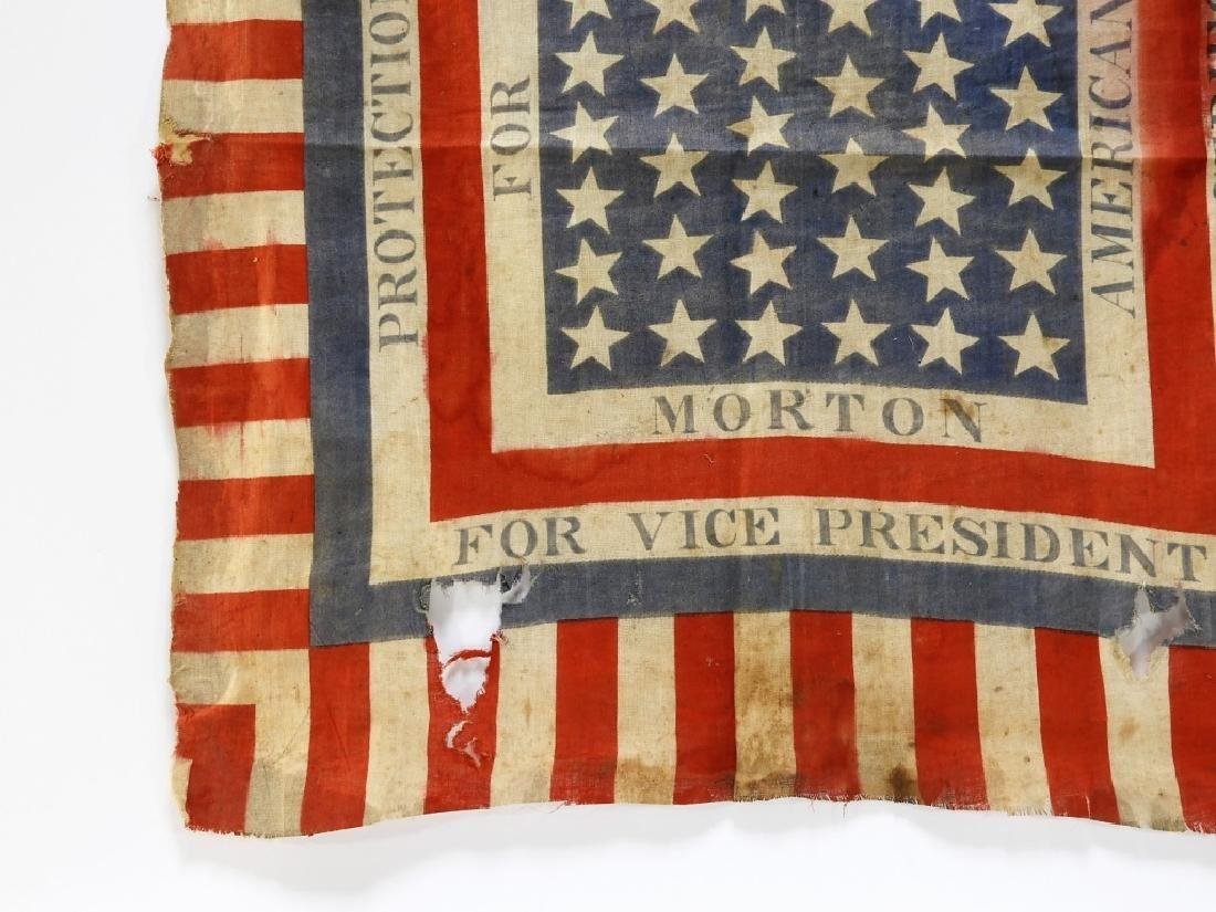 Presidential Election Harrison Handkerchief Flag - 3
