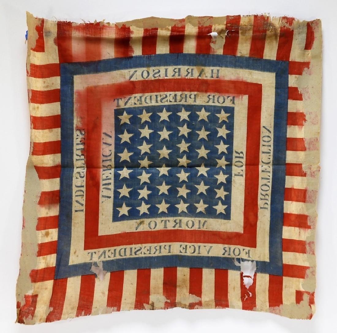 Presidential Election Harrison Handkerchief Flag - 6