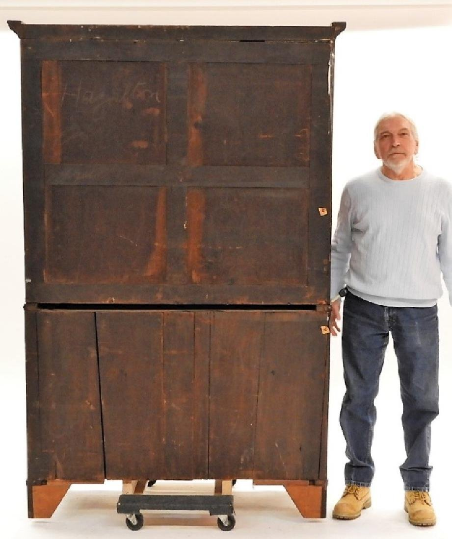 C.1800 Georgian Carved Mahogany Linen Press - 8