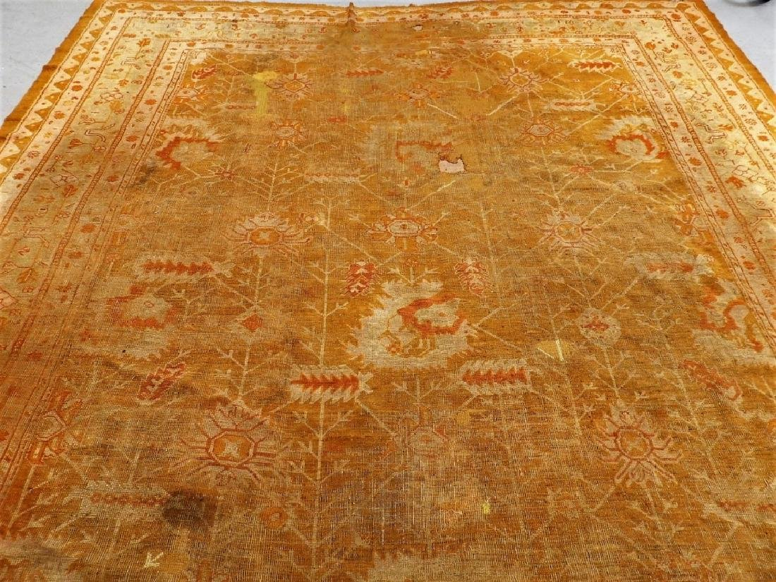 LG Antique Turkish Oushak Oriental Carpet Rug - 2