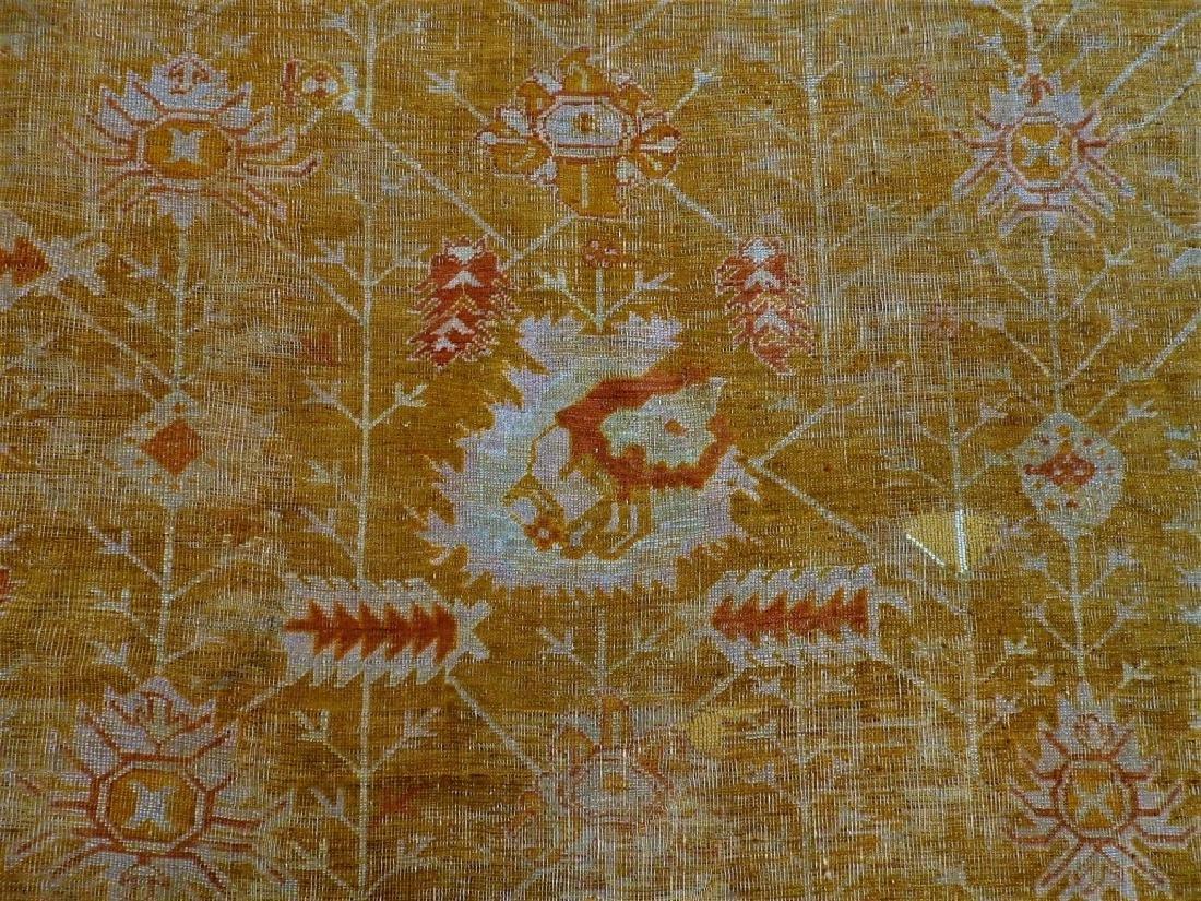 LG Antique Turkish Oushak Oriental Carpet Rug - 3