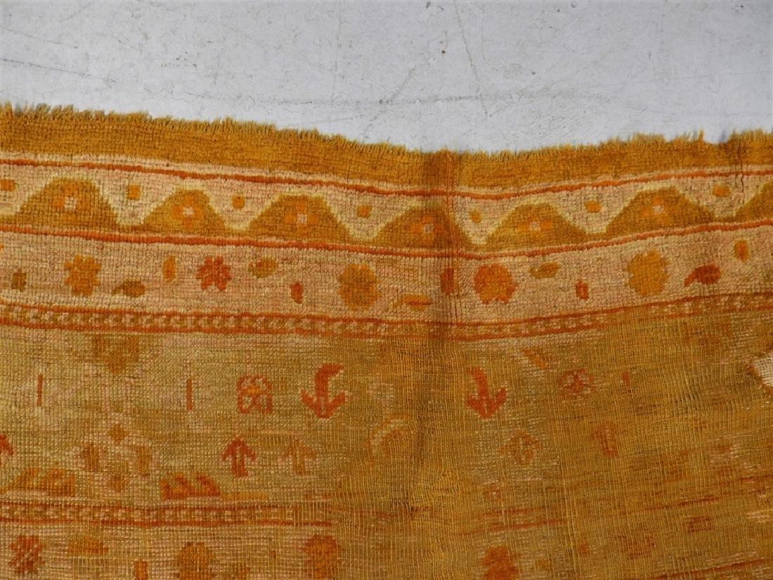 LG Antique Turkish Oushak Oriental Carpet Rug - 5