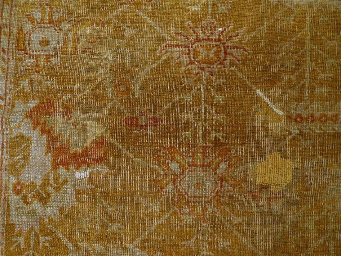 LG Antique Turkish Oushak Oriental Carpet Rug - 7