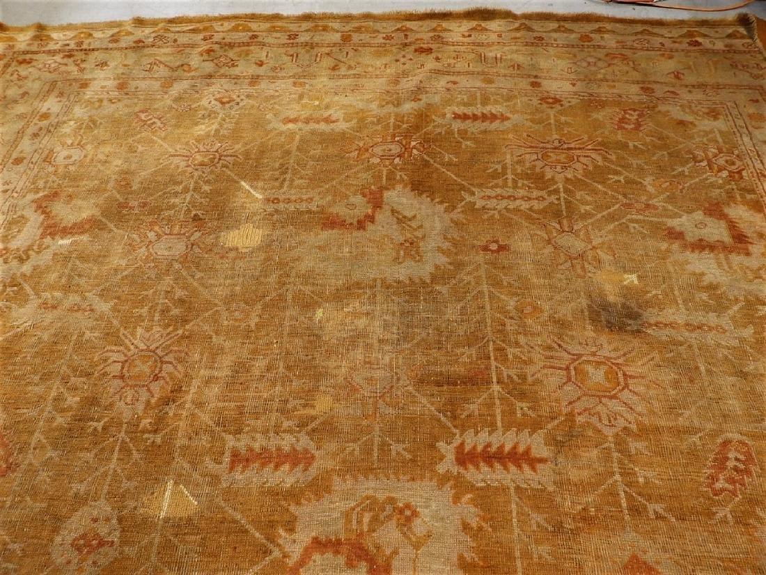 LG Antique Turkish Oushak Oriental Carpet Rug - 9