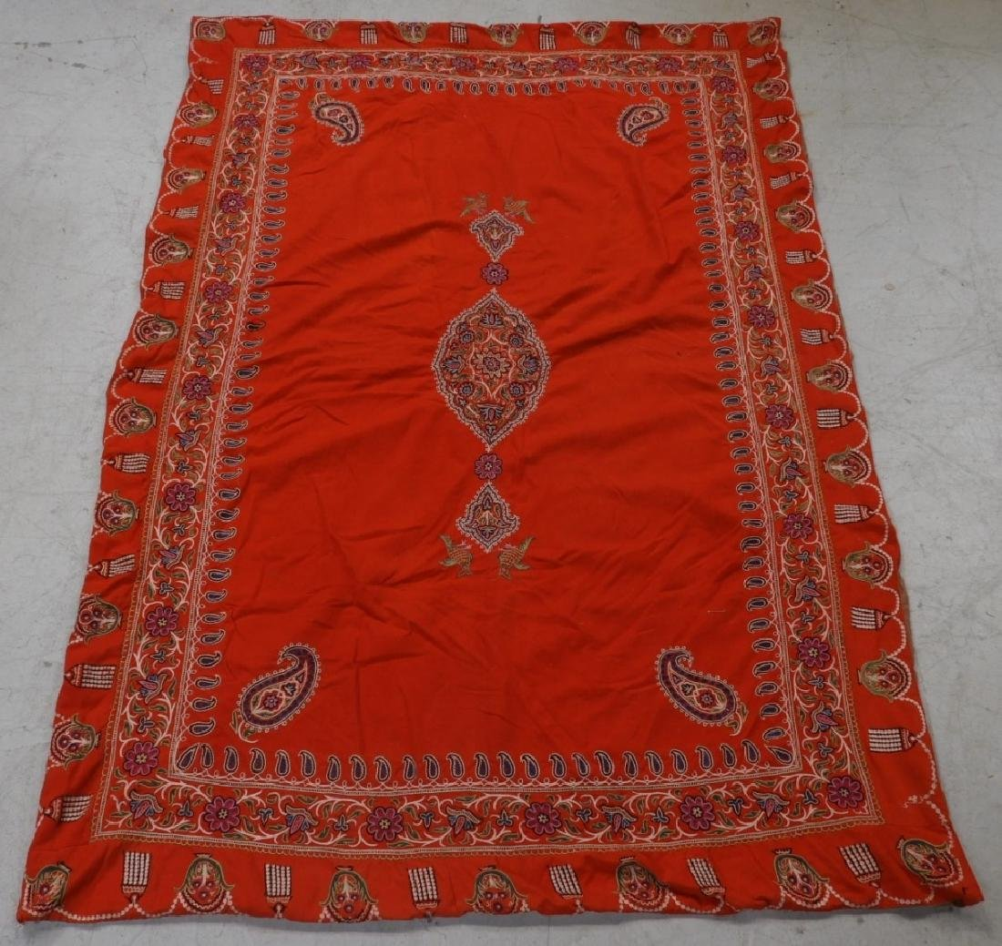 Middle Eastern Embroidered Textile Shawl