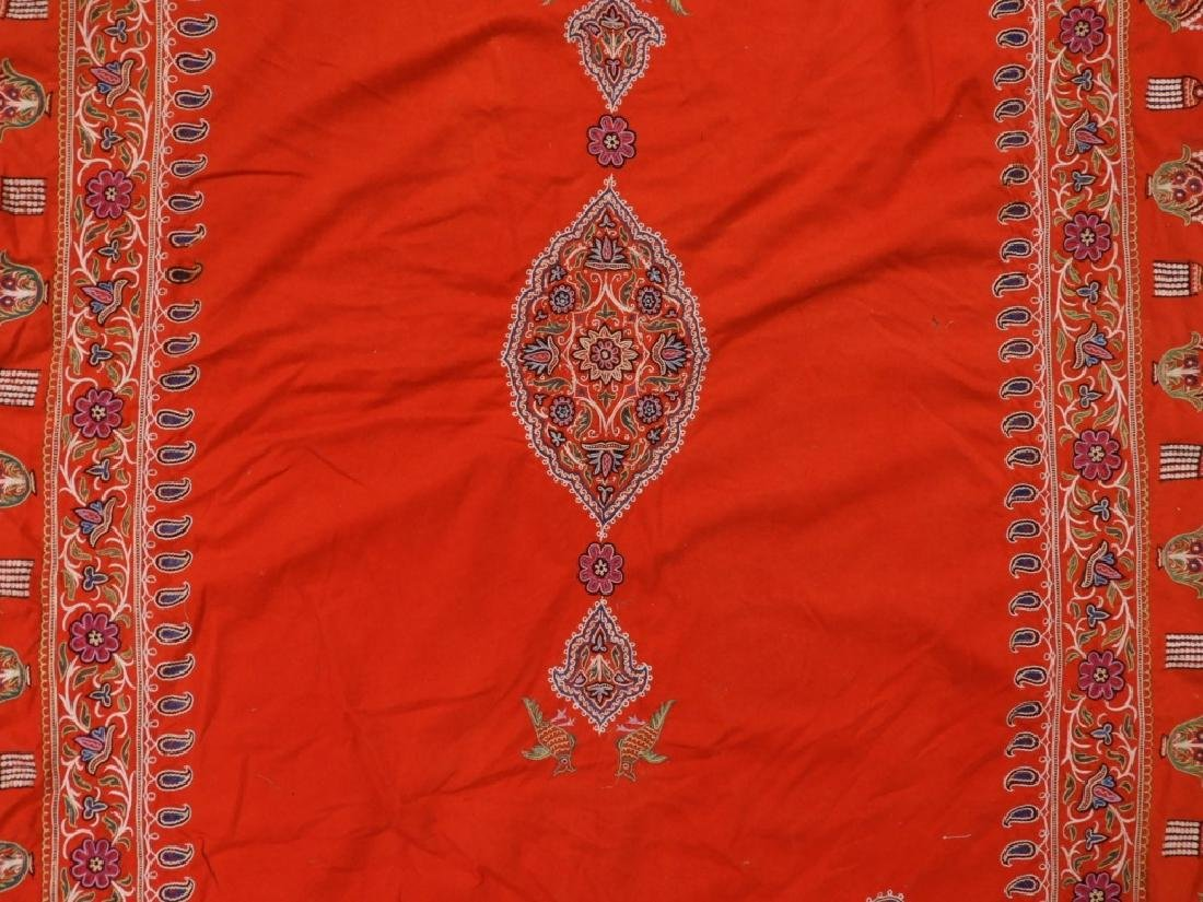 Middle Eastern Embroidered Textile Shawl - 2
